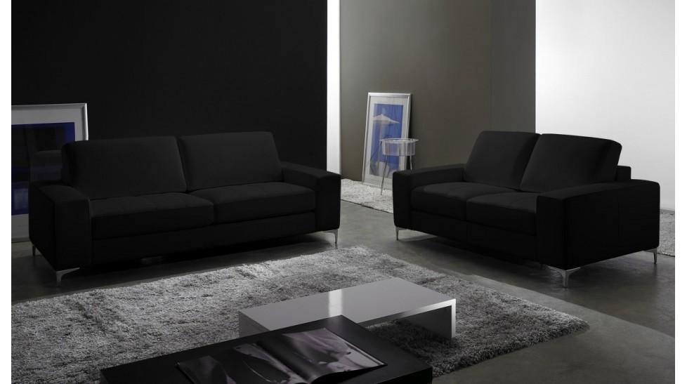 1d120524476be6 ... Canapé cuir noir italien luxe · Canapé 2 places ...