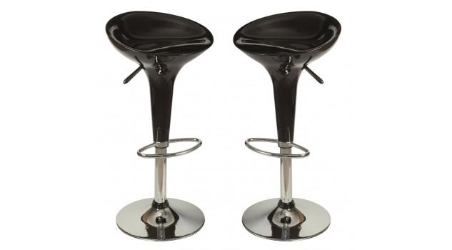 tabourets de bar design noir chaise design pas cher. Black Bedroom Furniture Sets. Home Design Ideas