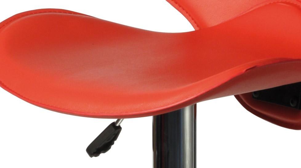 Tabouret de bar design en simili cuir rouge tabouret design pas cher - Tabouret de bar simili cuir ...