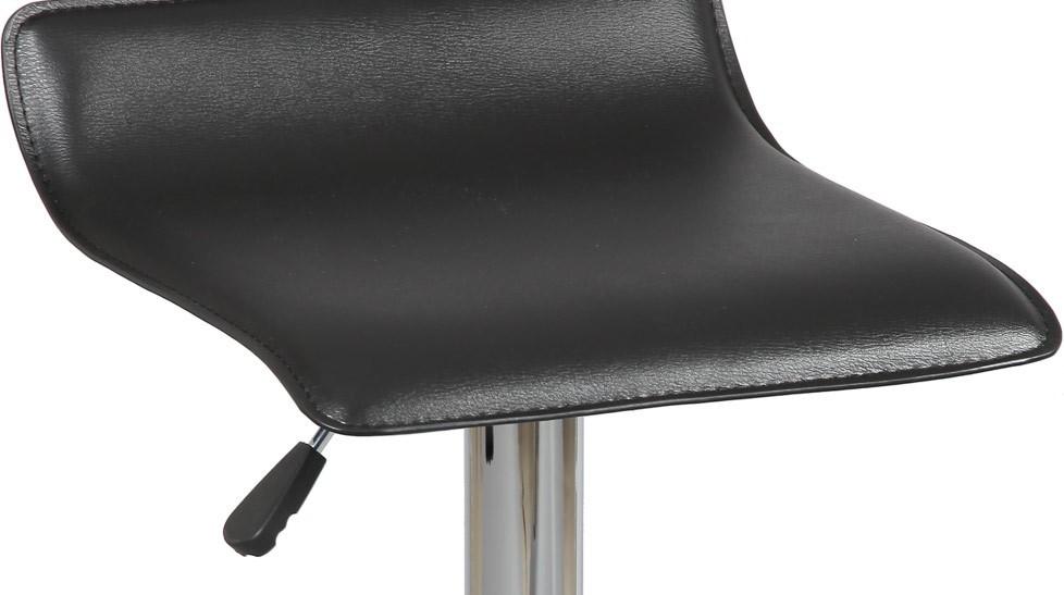 tabouret de bar design pas cher tabouret simili cuir noir. Black Bedroom Furniture Sets. Home Design Ideas