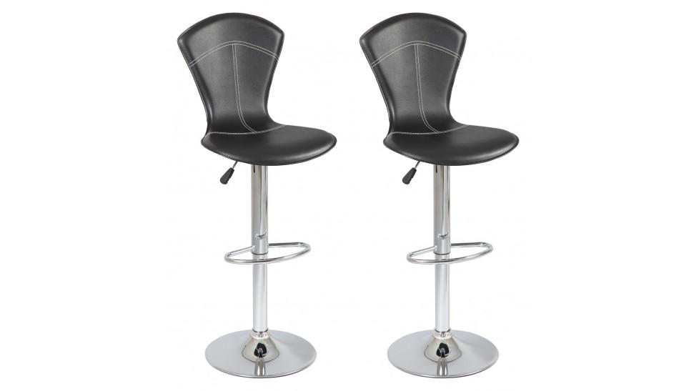Lot de 2 tabourets de bar r glables pas cher tabouret design - Chaise haute de bar pas cher ...