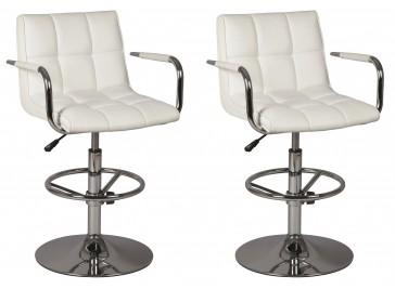 Lot de 2 chaises réglables en simili cuir
