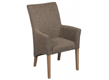 Chaise de salle à manger accoudoir gris - Gaëlle