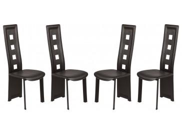 Lot de 4 chaises design noires