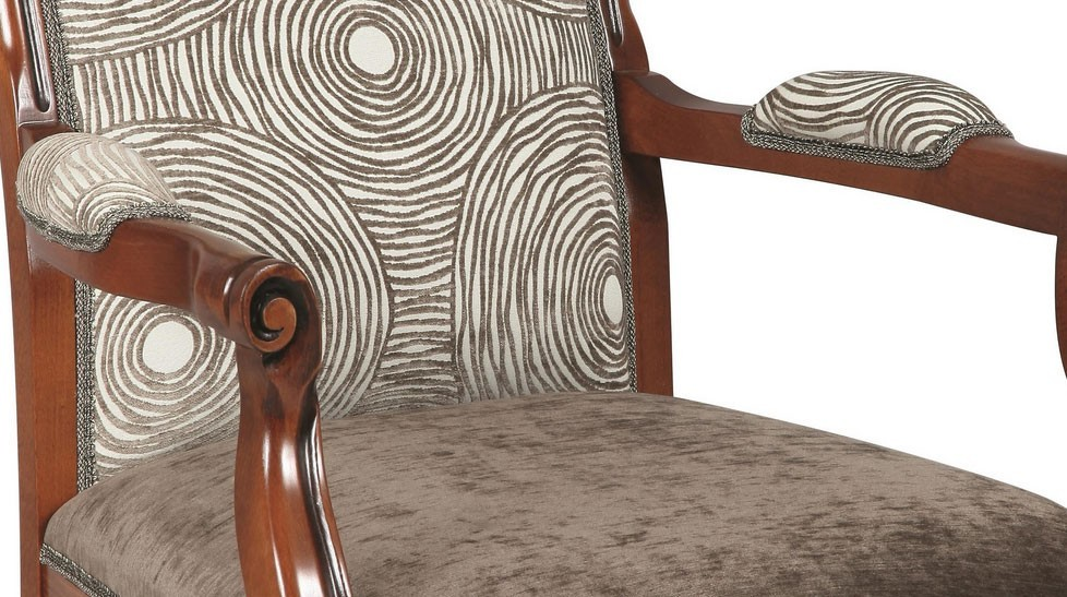 fauteuil voltaire tissu velours marron clair fauteuil de. Black Bedroom Furniture Sets. Home Design Ideas