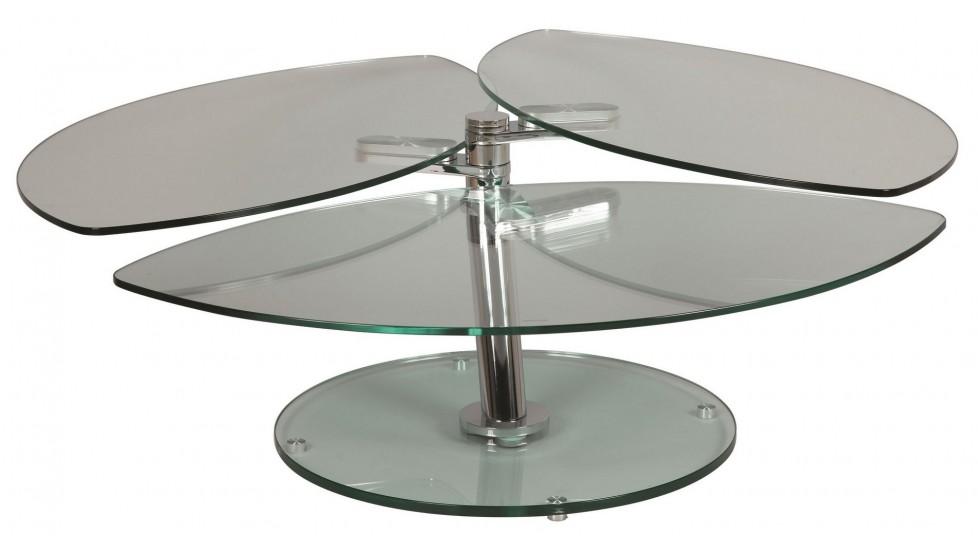 Table Basse En Verre Pétale 3 Plateaux Table Basse Verre Pas Cher