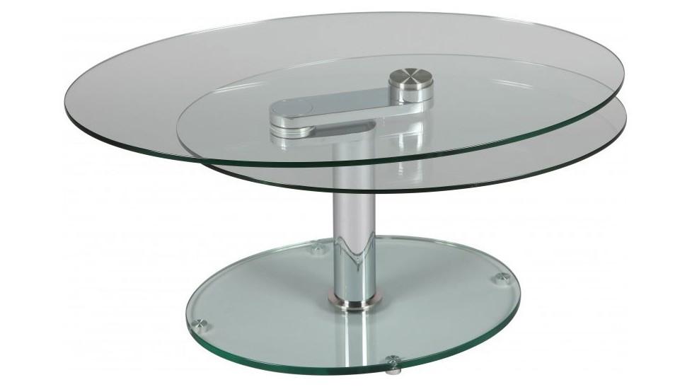 table basse ovale en verre table basse design pas cher. Black Bedroom Furniture Sets. Home Design Ideas