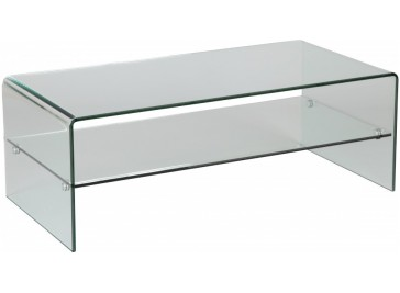 Table basse verre courbé 1 rayon