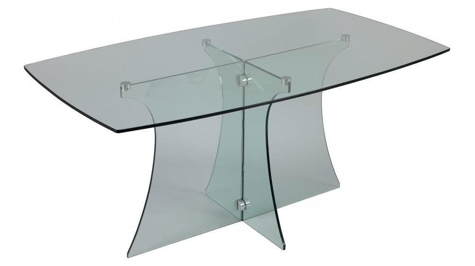 table de repas en verre tremp pas cher. Black Bedroom Furniture Sets. Home Design Ideas