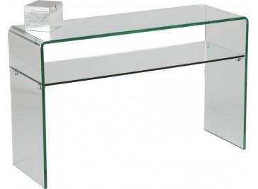 Console verre courbé 1 rayon