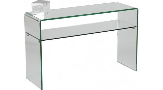 Console verre courbé 1 rayon L120