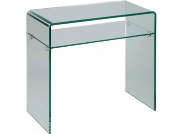 Petite console verre courbé 1 rayon