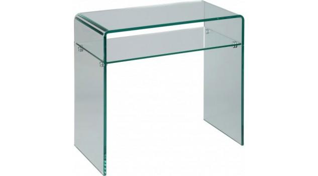 Petite console verre courbé 1 rayon L80