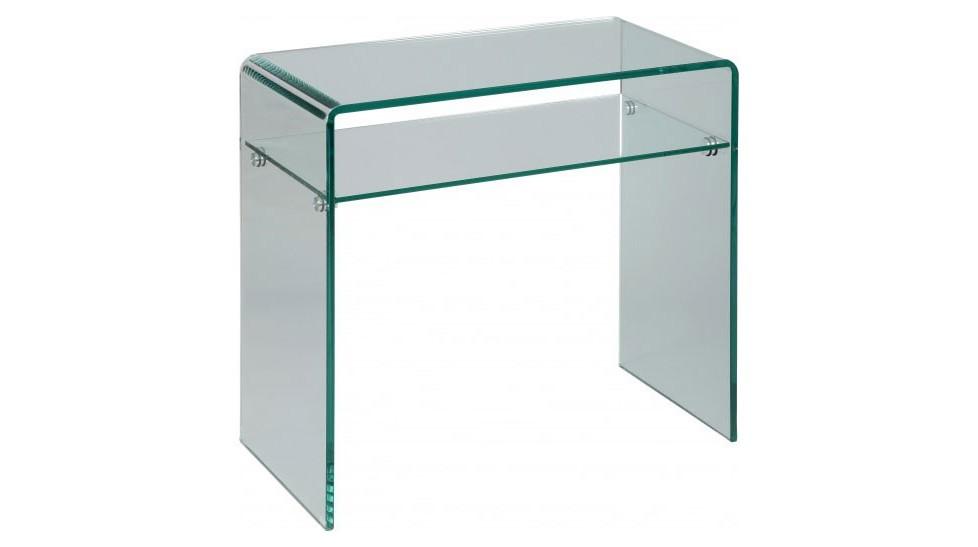 Petite console en verre design un rayon - Meuble design pas cher