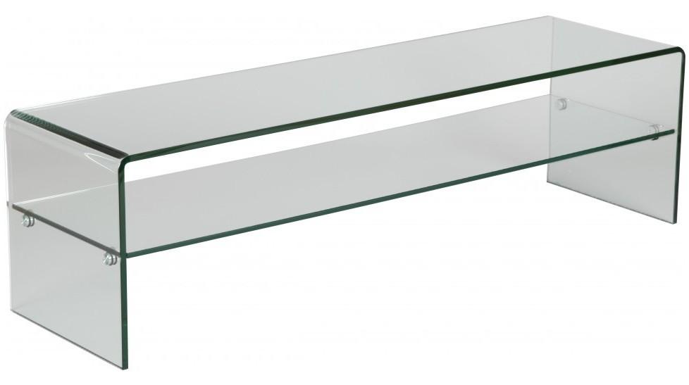 meuble tv en verre courb avec un rayon meuble tv design pas cher. Black Bedroom Furniture Sets. Home Design Ideas