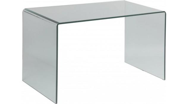 Bureau design rectangulaire verre courbé