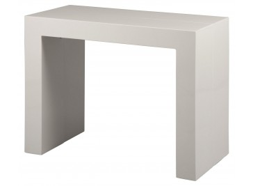 Console extensible 3 allonges laquée blanc L200
