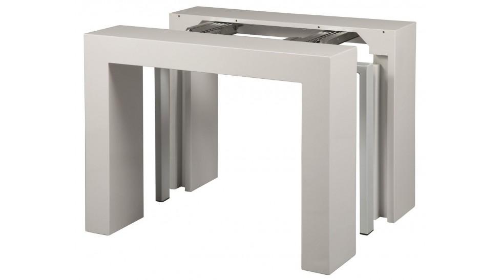 console extensible blanc laqu 3 allonges console design pas cher. Black Bedroom Furniture Sets. Home Design Ideas