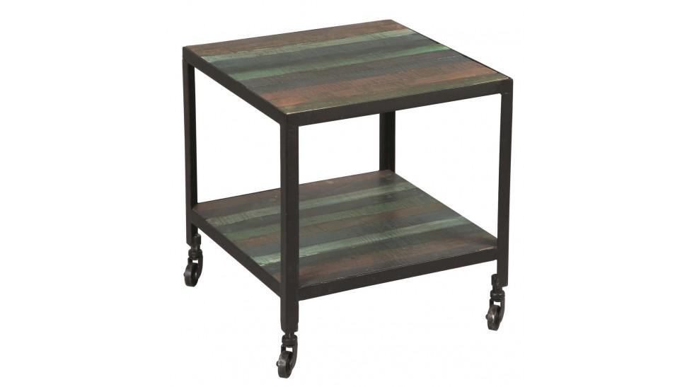 bout de canap en acier design industriel. Black Bedroom Furniture Sets. Home Design Ideas
