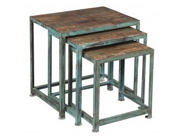 Tables gigognes en acier design industriel