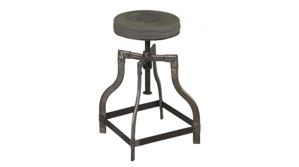 tabouret acier industriel r glable en hauteur tabouret pas cher. Black Bedroom Furniture Sets. Home Design Ideas