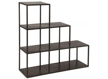 Etagère escalier acier design industriel 3 niveaux