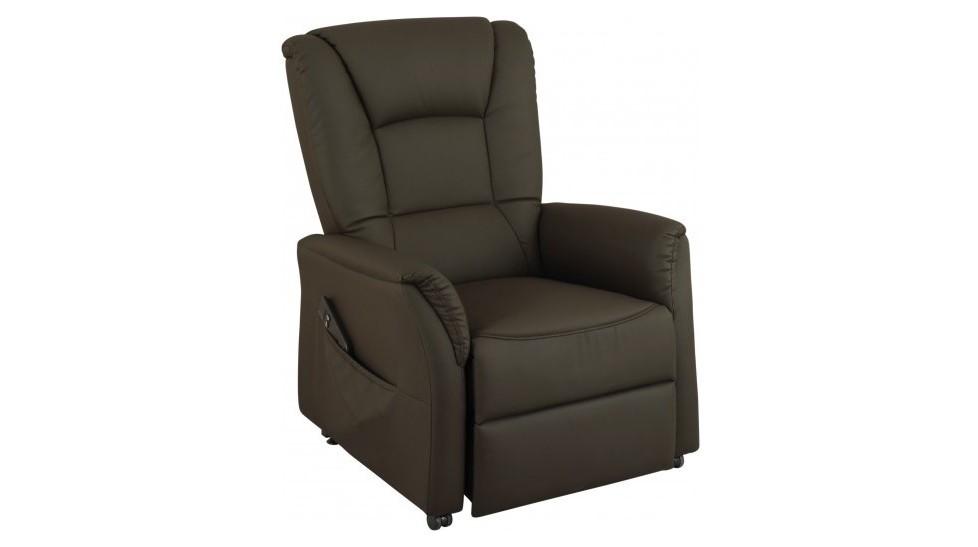 Fauteuil releveur lectrique simili cuir fauteuil - Fauteuil releveur cuir ...