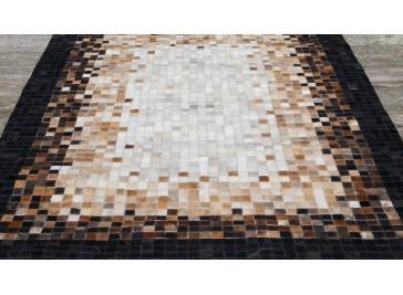 Tapis en peaux de vache patchwork - Quadrac