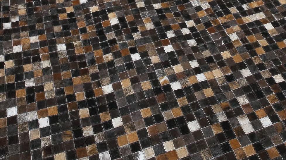 tapis patchwork en peaux de vache quadram - Tapis Peau