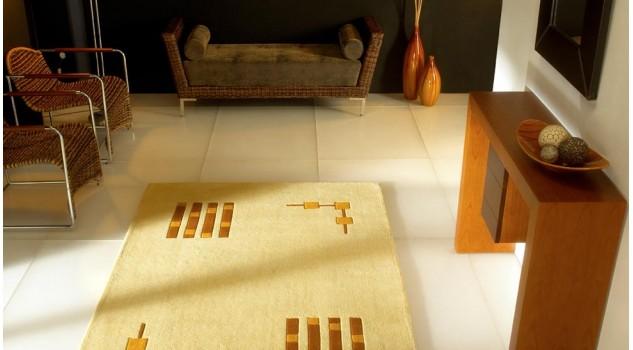 Tapis 100% laine moderne - Gold