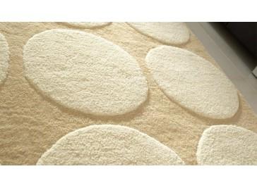 Tapis 100% laine beige et blanc - Impex