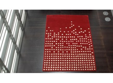 Tapis 100% laine rouge - Cascared