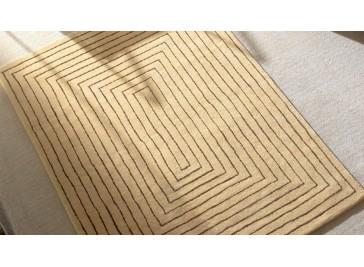 Tapis laine haut de gamme beige - Tridimensional