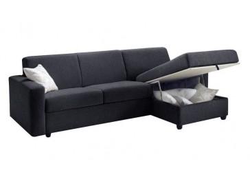 Canapé angle rapido lit 120 cm coffre réversible - Pisa