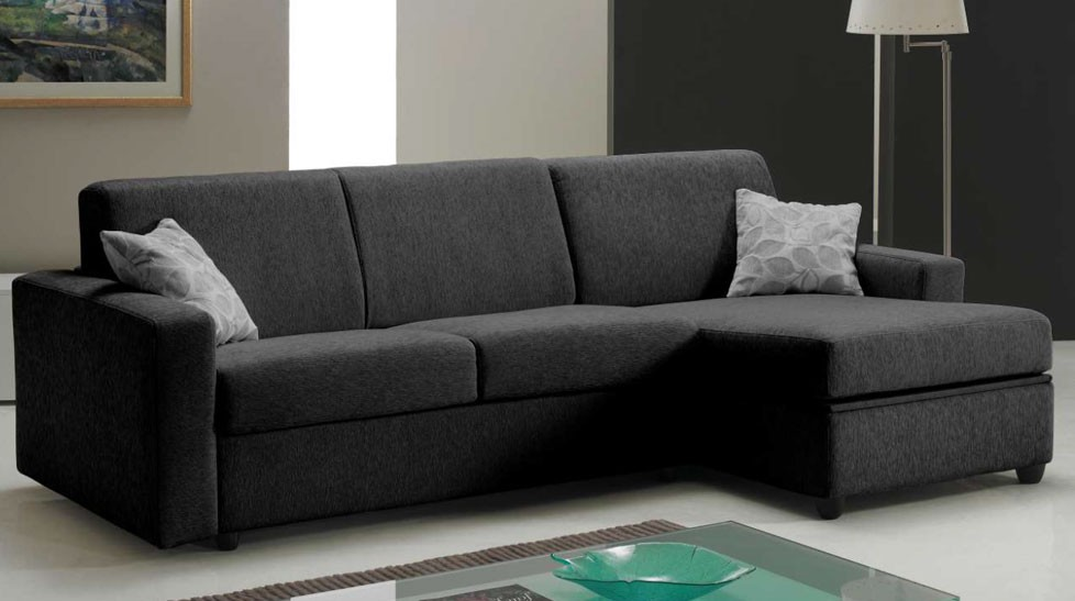 canap d 39 angle rapido lit 120 cm r versible tissu microfibre. Black Bedroom Furniture Sets. Home Design Ideas