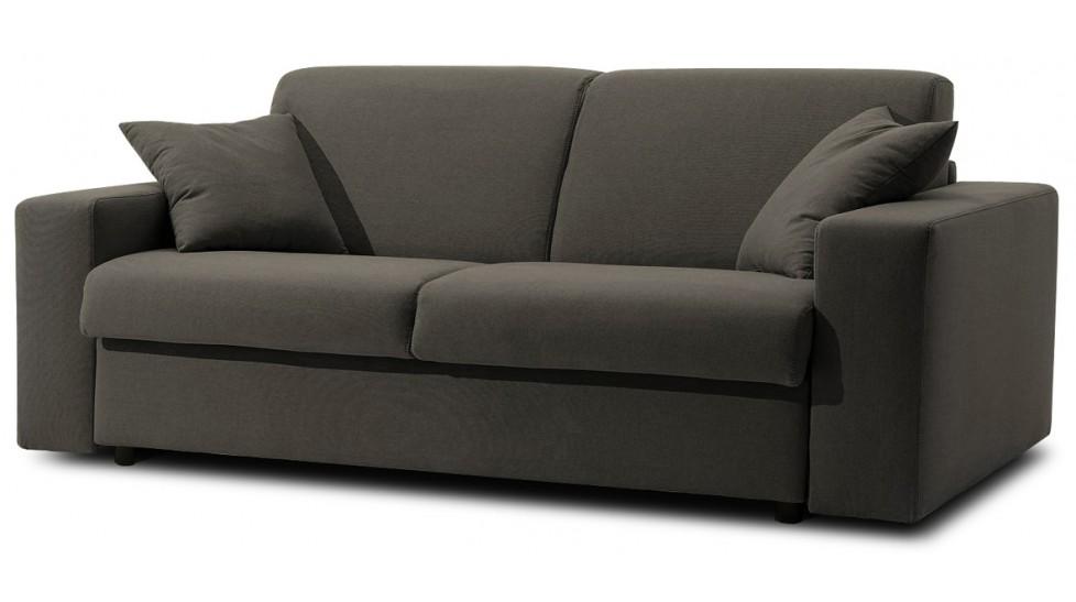 meilleure sélection e2bef 20a0f Canapé lit 3 places en tissu déperlant matelas 140x190 cm - Sofia