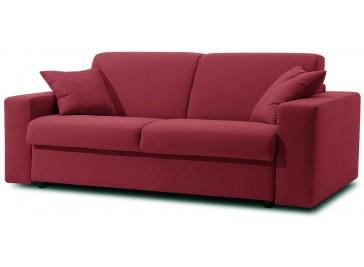 Canapé lit 3 places en tissu déperlant matelas 140x190 cm - Sofia