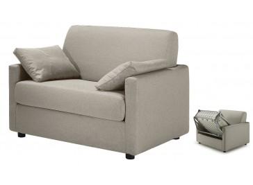 fauteuil lit convertible tissu greige pas cher