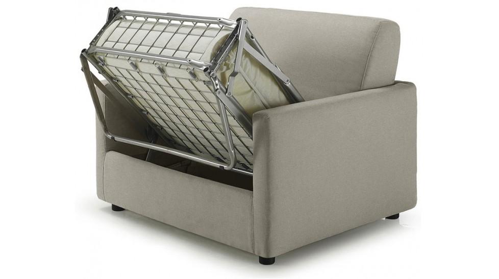 fauteuil lit convertible tissu greige sp cialiste canap. Black Bedroom Furniture Sets. Home Design Ideas