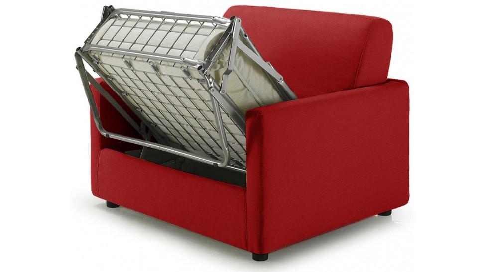 fauteuil lit pas cher tissu rouge fauteuil convertible. Black Bedroom Furniture Sets. Home Design Ideas