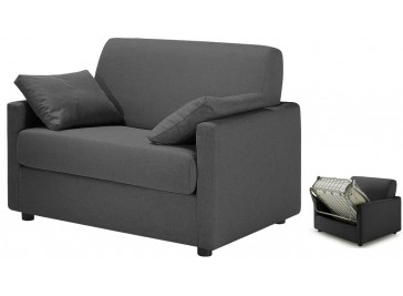 fauteuil convertible tissu gris anthracite - David