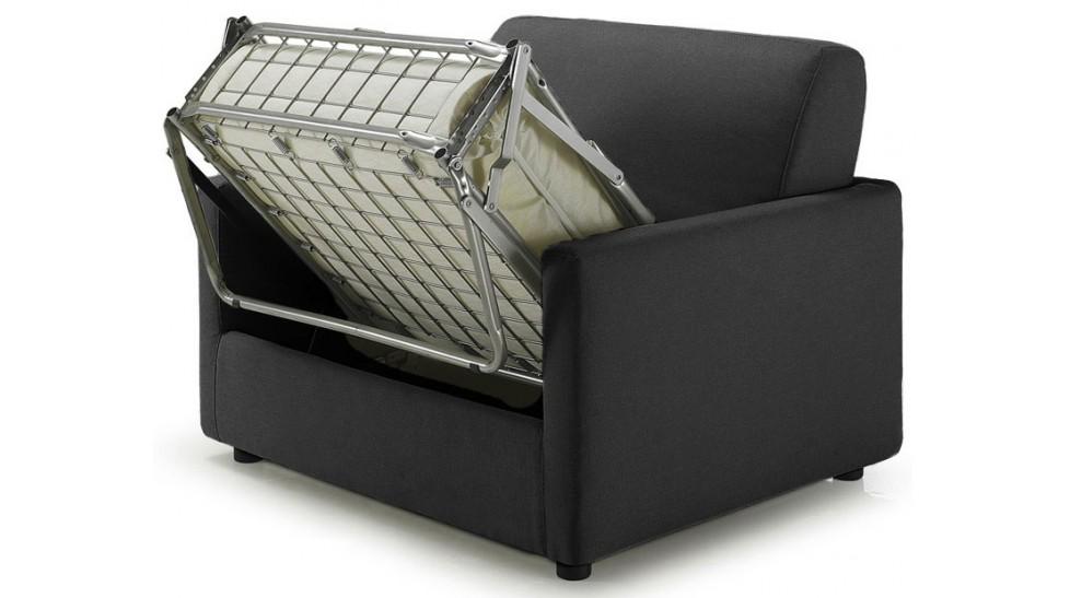 fauteuil lit tissu gris anthracite fauteuil convertible pas cher. Black Bedroom Furniture Sets. Home Design Ideas