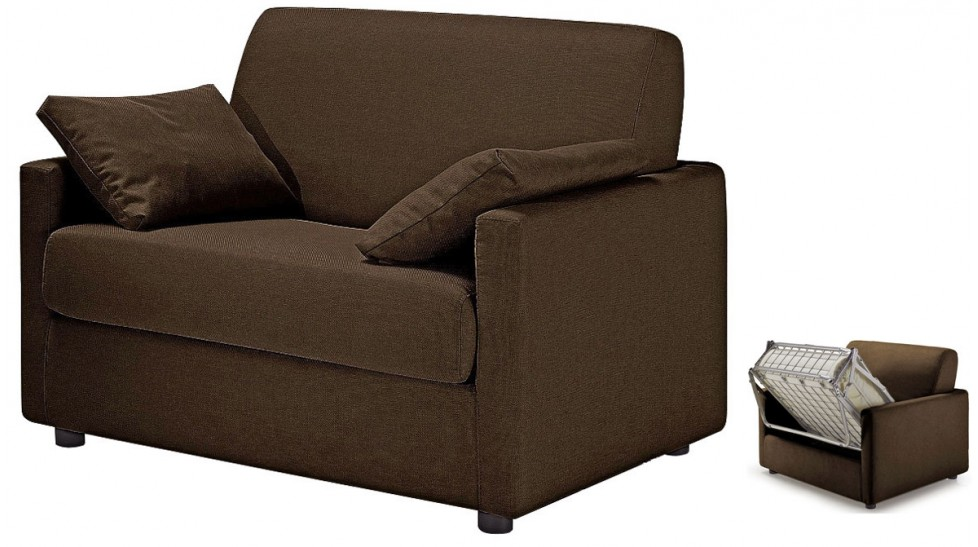 fauteuil convertible tissu marron fauteuil lit pas cher. Black Bedroom Furniture Sets. Home Design Ideas