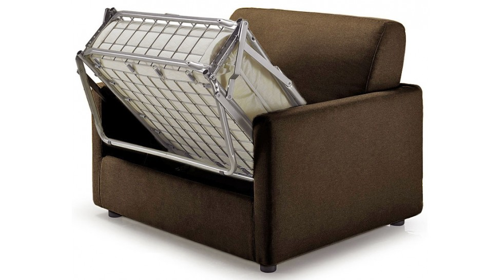 Fauteuil convertible tissu marron fauteuil lit pas cher - Fauteuil pas cher ikea ...