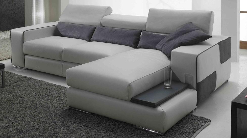 Canapé d angle réversible en cuir pas cher Canapé angle en cuir blanc
