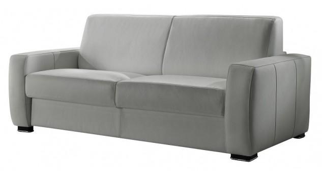 Canapé lit en cuir 2 places - Billy